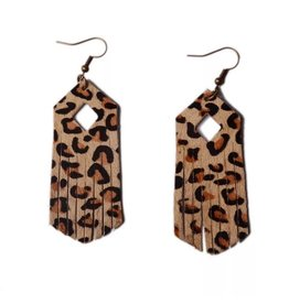L&N Rainbery Rainbery Leopard Leather Earring
