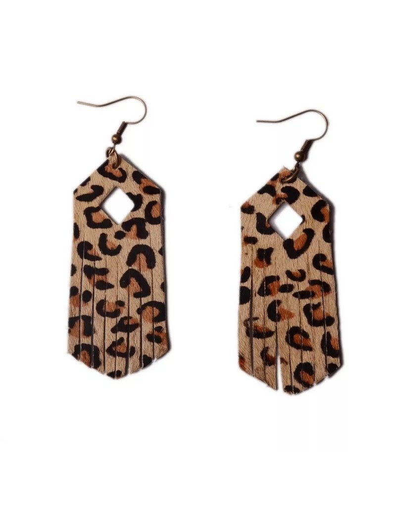 L&N Rainbery Rainbery Leopard Leather Earring