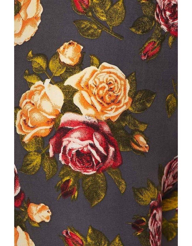 2NE1 Apparrel JULIANA Gray Floral Legging