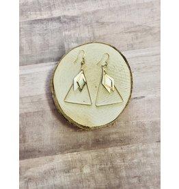 XXZJH PLATT Gold & Pearl Drop Earring