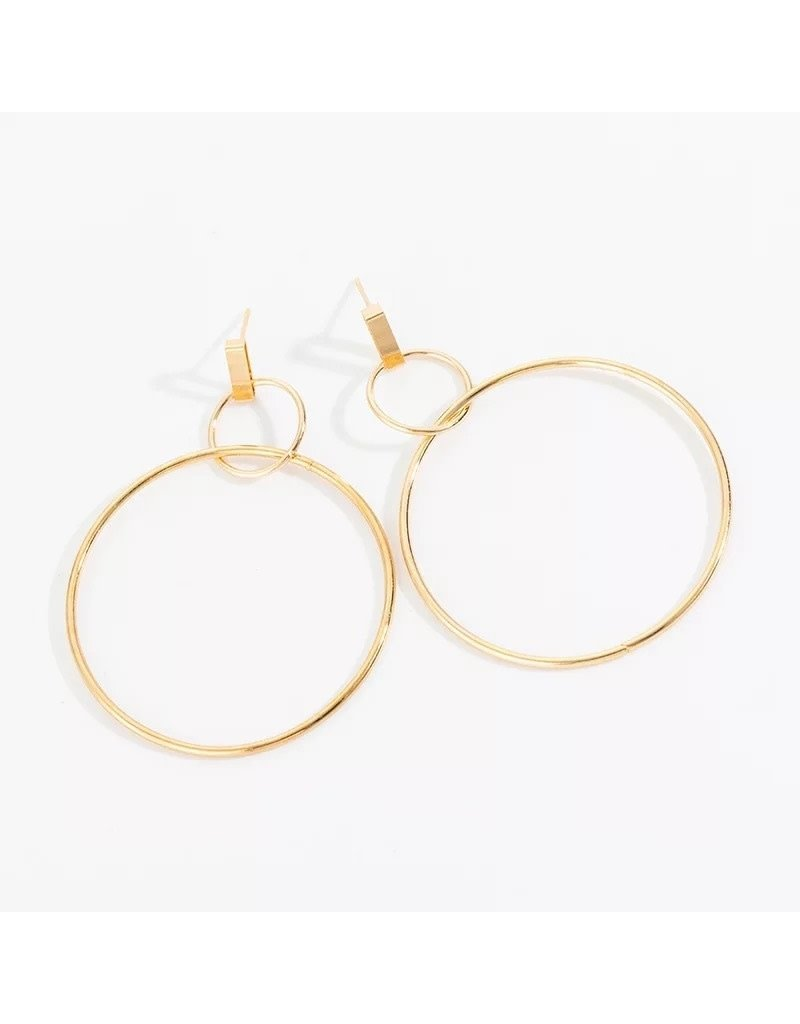 XXZJH AMBITION Double Circle Earring (More Colors)