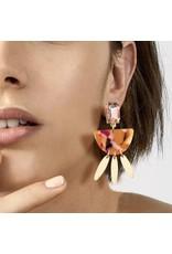 One Kiss BLUSHING HEART Acrylic Earring