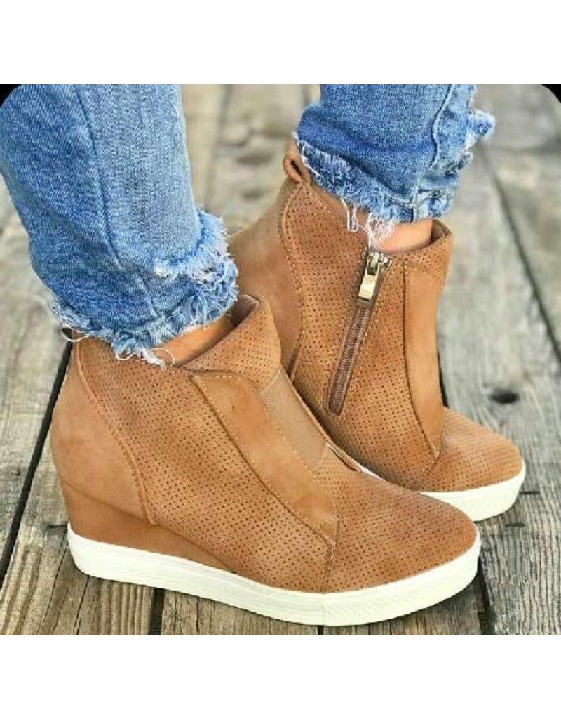 kaykay fashion CHELSEA High Top Tennis Shoe Taupe