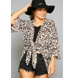 Peach Love California KINDLE Leopard Kimono