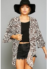 Peach Love California KINDLE Leopard Kimono