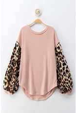 Trend Notes CHARIOT Pink Waffle Top