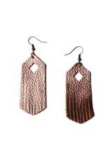 L&N Rainbery ARIA Gold Leather Earring