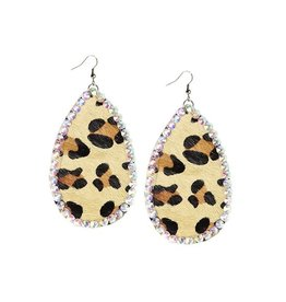 Your Fashion Wholesale CRYSTAL Leopard Oval Earrings