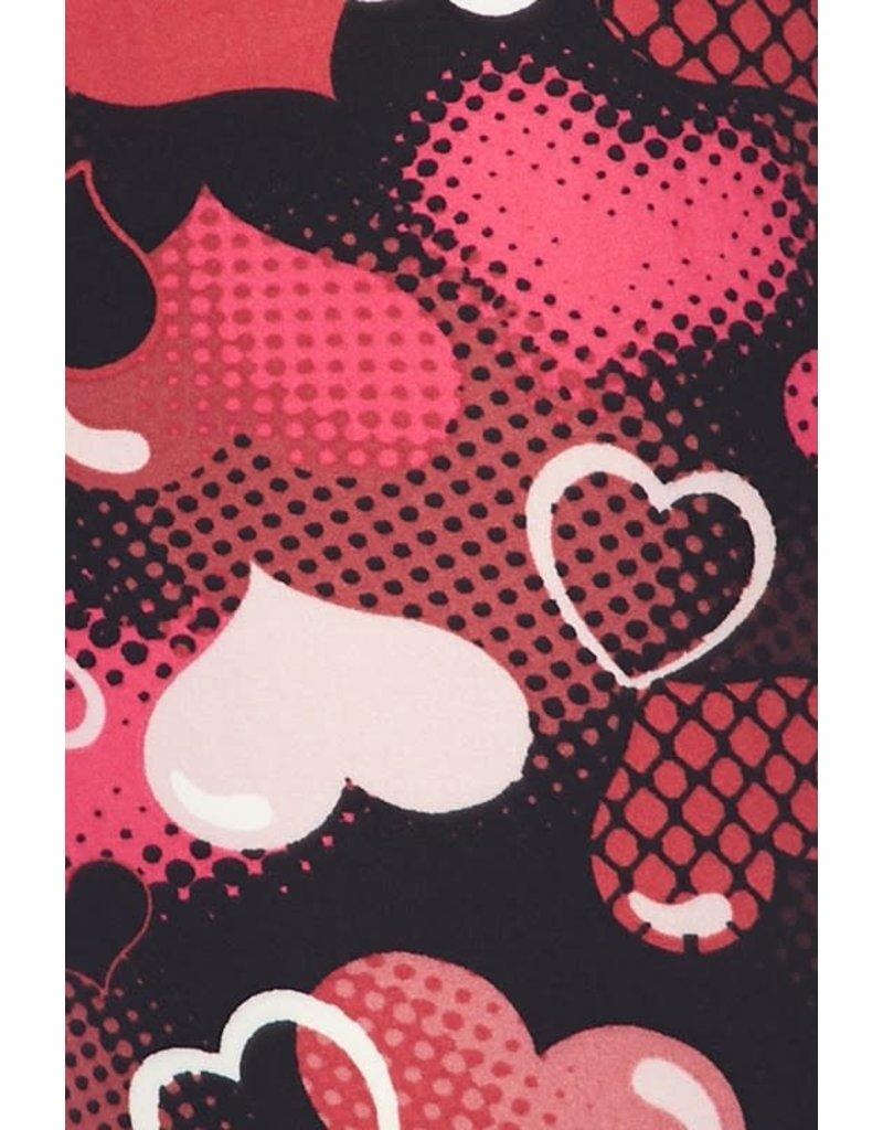 2NE1 Apparrel HEARTS ON FIRE Valentine Leggings