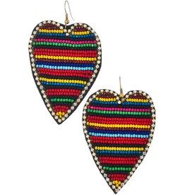 KNC ADMIRE Striped Beaded Earring