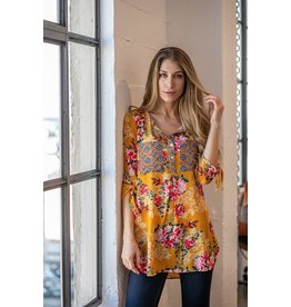 olive hil SONNY Long Sleeve Floral Shirt
