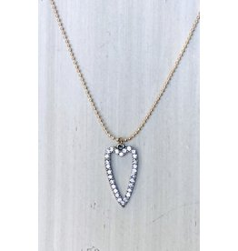 HL VENICE Drop Heart Necklace