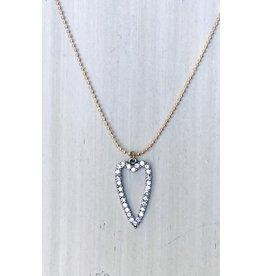 VENICE Drop Heart Necklace