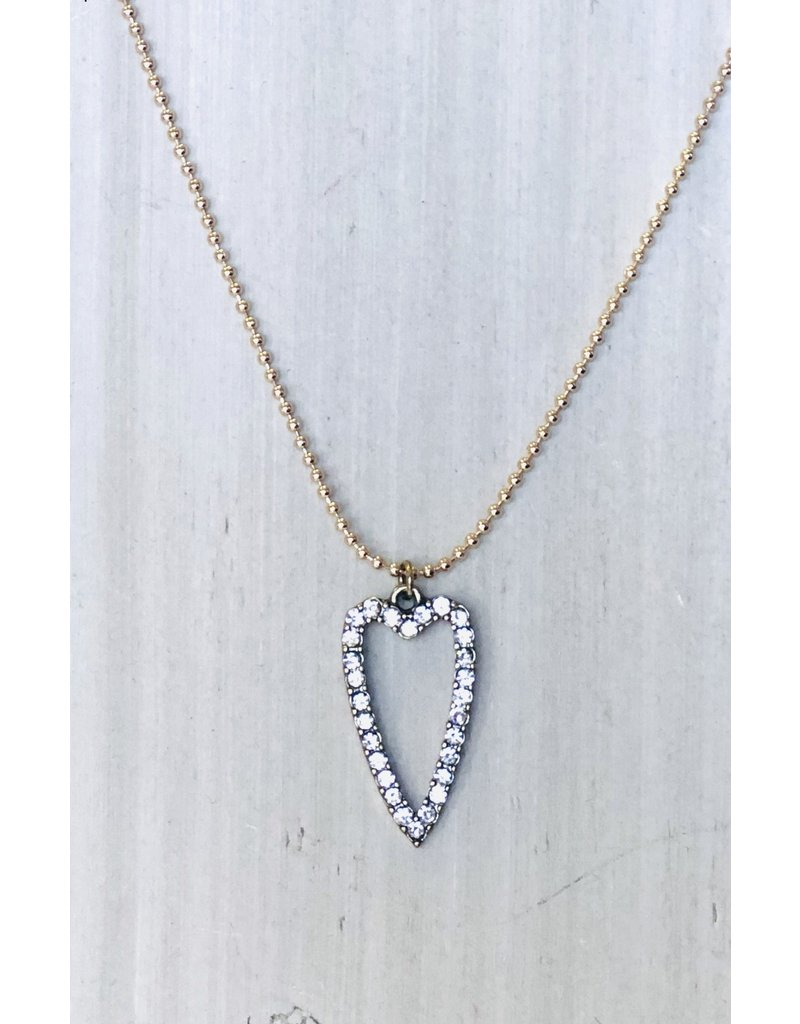 HL VENICE Drop Heart Necklace