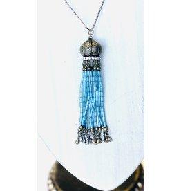HL BALLENGER Crystal Tassel Necklace