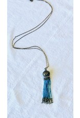 HL BALLENGER Crystal Tassel Necklace