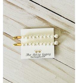 J&S Fashion IZZY Pearl Bobby  Pin