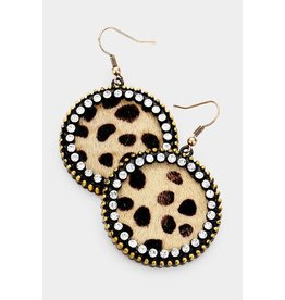 Wona FUNTASTIC Leopard Earring with Crystals