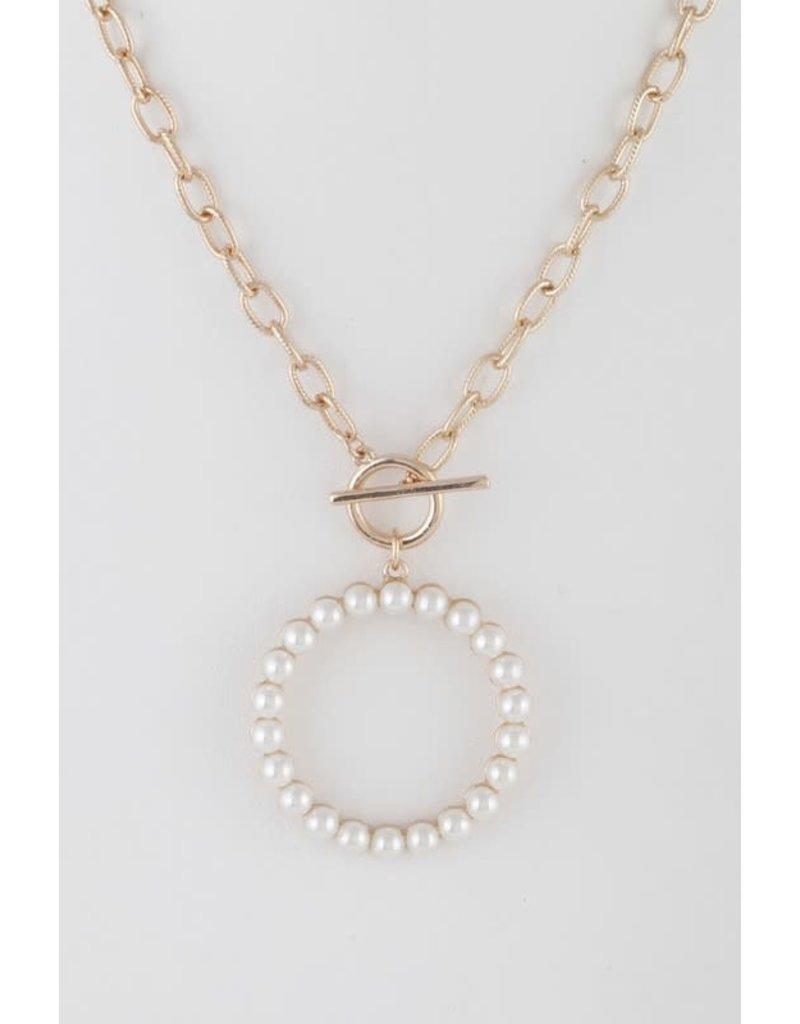 Bag Boutique SWEET PEA Pearl Pendant Necklace