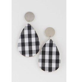 Bag Boutique GUM DROP Plaid Earring