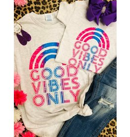 P & D Wholesale GOOD VIBES Graphic Tee (S-2XL)