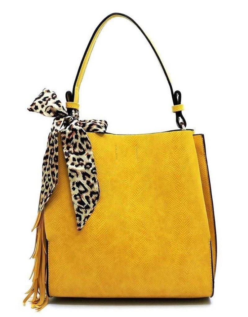 Virago DARLING Leopard Scarf Python Shoulder Bag