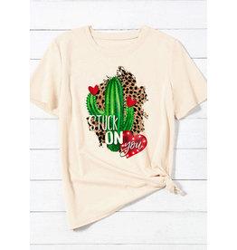 P & PD STUCK ON YOU Cactus Tee (S-XL)