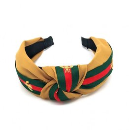 KNC SICILY Knotted Headband- Gold