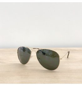 The Royal Standard TYNDALL Pilot Sunglasses (Green)
