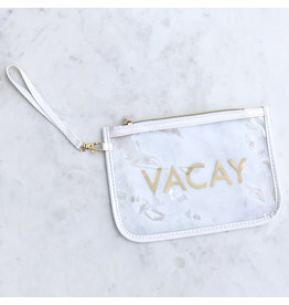 The Royal Standard VACAY Clear Wristlet
