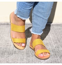 Bamboo WATERFRONT Double Strap Sandal, Yellow