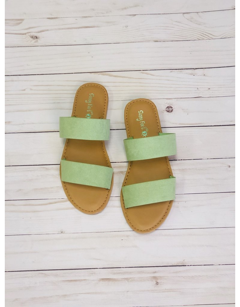 Bamboo WATERFRONT Double Strap Sandal, Mint