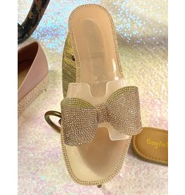 TENOR Jelly Sandal with Crystal Bow