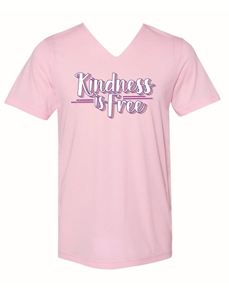 Janie Marie KINDNESS IS FREE V-Neck Tee (S-2XL)