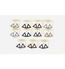 Funteze Accessories GLAM Triangle Drop Earring