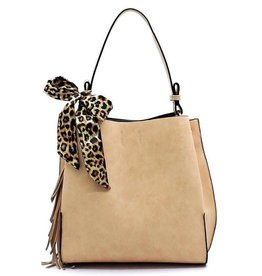 Bag Boutique DARLING Leopard Scarf Python Shoulder Bag