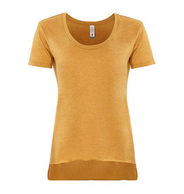 Next Level RAW EDGE Top in Mustard (S-XL)