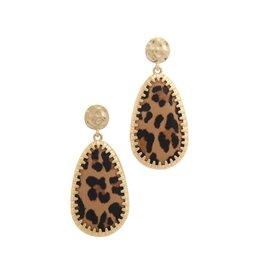 Joia Trading HANEY Leopard Teardrop Earring