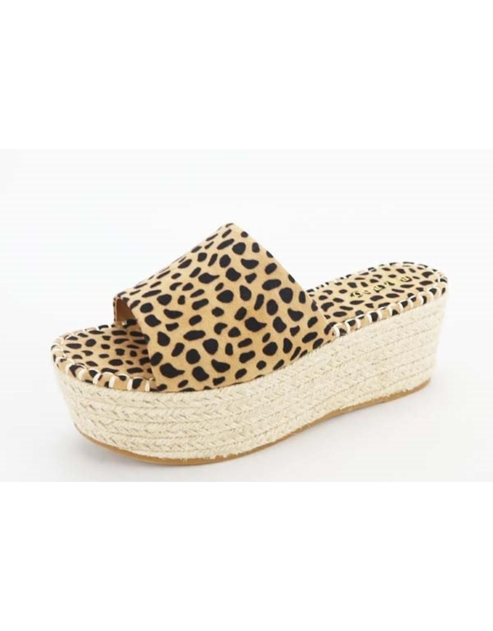 MAGNOLIA Wedge Slide Leopard Sandal