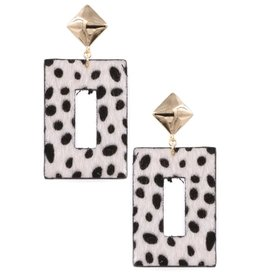 Art Box DILWORTH Cheetah Print Earring