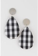 Bag Boutique POSTCARD Buffalo Plaid Earring