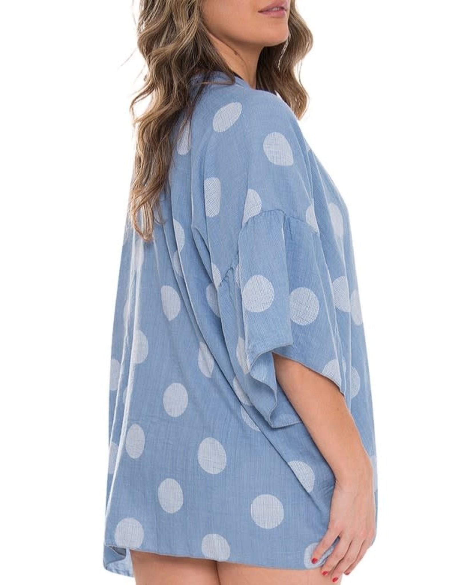 Fashion City MOMENTS Kimono/ Swim Cover- Blue