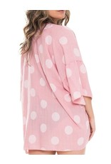 Fashion City MOMENTS Kimono/Swim Cover-Pink