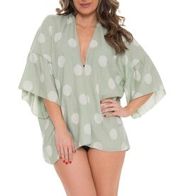 Fashion City MOMENTS Kimono/Swim Cover- Green