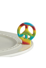 Nora Fleming PEACE OUT Mini (Peace Sign)