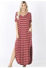 Zenana Premium RESOLUTION STRIPED Maxi Dress