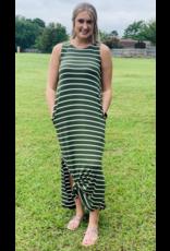 Zenana Premium TREMAIN Striped Maxi Dress (S-XL)