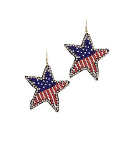 Joia Trading PATRIOT Star Bead Seed Earring