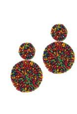 KAYLEE Double Circle Seed Bead Earrings