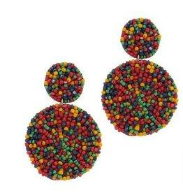 Joia Accessories KAYLEE Double Circle Seed Bead Earrings